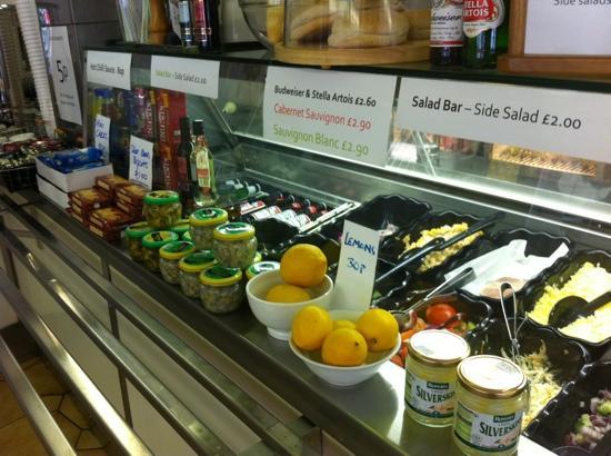 Barnabys: salad counter.