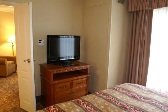 Homewood Suites by Hilton Asheville- Tunnel Road: TV & Room AC in bedroom
