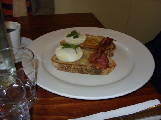 Say Grace Cafe & Larder: Bacon and eggs on Sourdough ( one piece bacon instead of two )