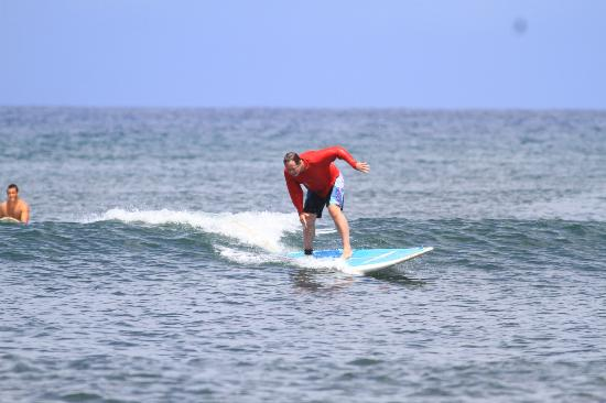 Blue Rush Surf School: Stood up on the first try