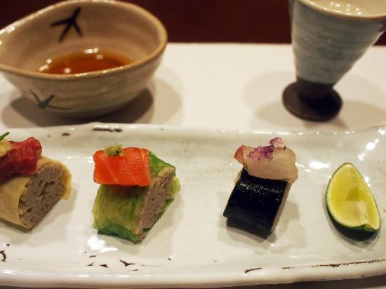 Hoshino Resorts KAI Matsumoto: 蕎麦寿司