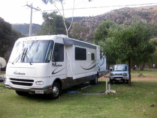 Halls Gap Lakeside Tourist Park: Spacious sites, motorhomes welcome!