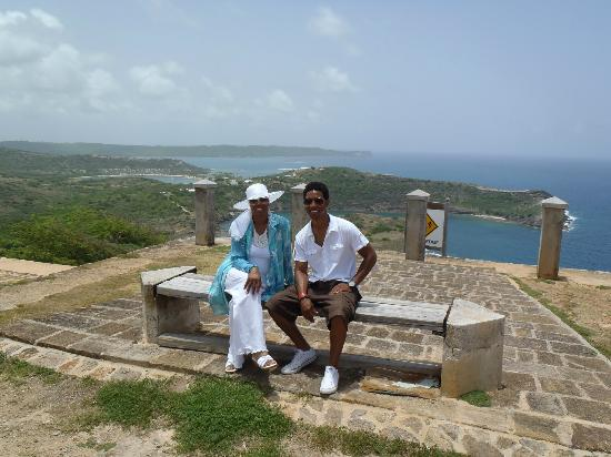 Luxury Safari Antigua: Mom and I at yet another beautiful location