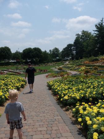 Entering the Sunken Gardens