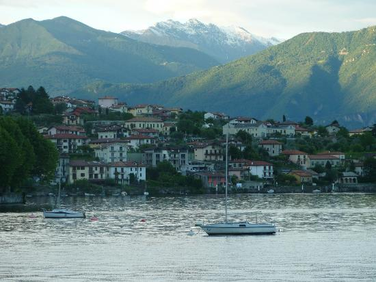 Locanda La Tirlindana: view from the water towards Sala Comacina