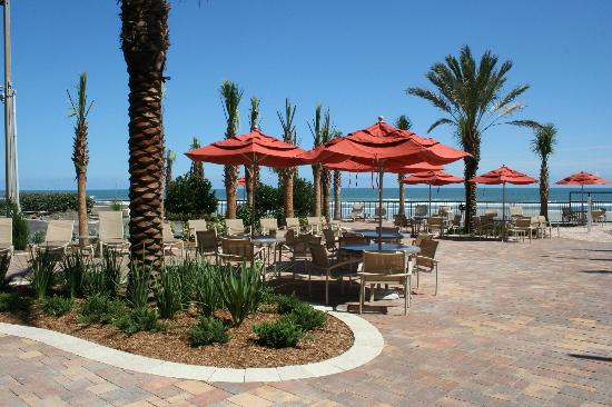 Nautilus Inn: Newly landscaped oceanside pool deck