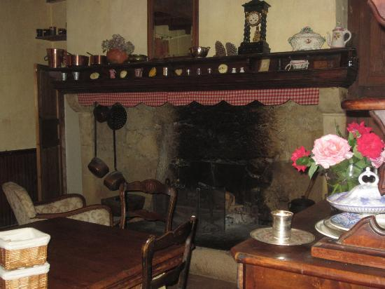 L'Auberge des Coteaux de Gascogne: The Fireplace