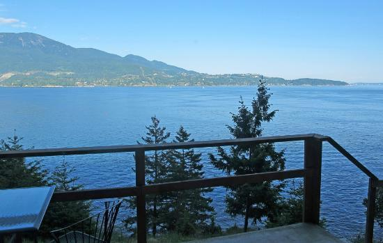 On the Sea B&B : View to right with West Vancouver beyond the passage