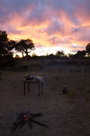 Shenton Safaris Mwamba Bush Camp : Early morning coffee