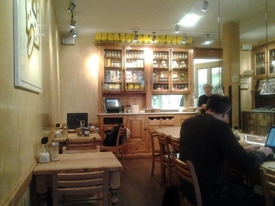 Le Pain Quotidien - de Pijp : One of the cafe sitting areas