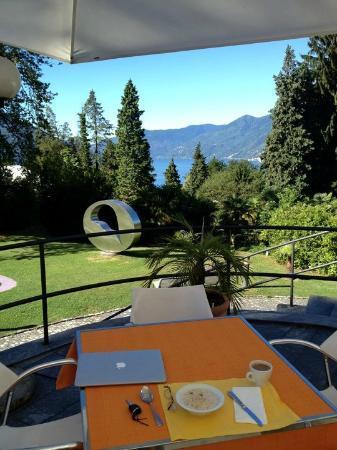 Hotel Monte Verita : Breakfast overlooking the lake