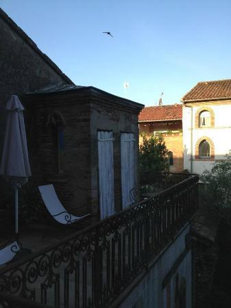 Villa Leopoldine : terrasse accessible depuis la chambre