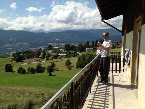 Albergo Bucaneve: panorama dal terrazzo della camera