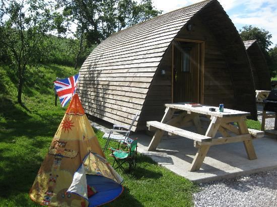 Humble Bee Farm: Our WigWam, with side play area (our own toy tent)