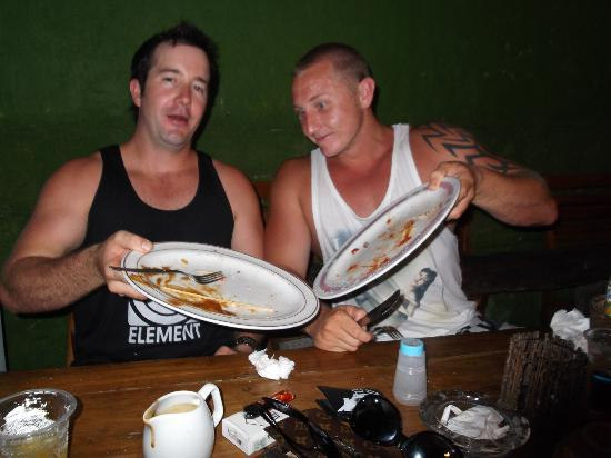 Alleycats: Notice the sweat, they worked hard to finish those burgers!