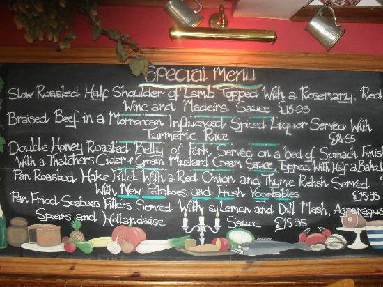 The Prince of Wales: The ever changing Specials board