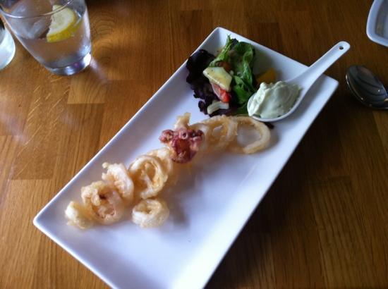 Squid Ink: squid salad