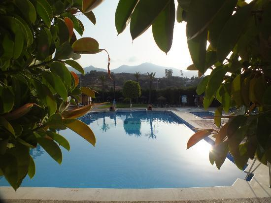 Hacienda Puerta del Sol: Early morning at pool