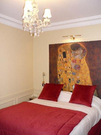 """Timhotel Tour Montparnasse: unser Zimmer """"Gustav Klimt"""""""