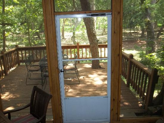 Cypress Creek Cottages: From screened porch
