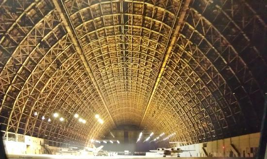 NASA Ames Visitor Center: Inside one of the hangars