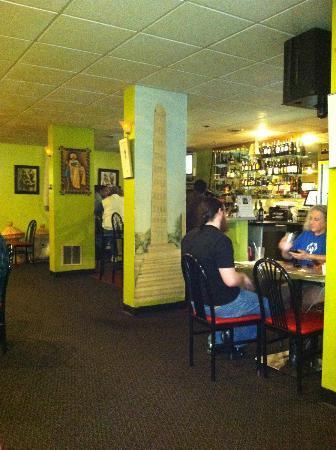 Fasika Ethiopian Restaurant: interior of restaurant (bar area)