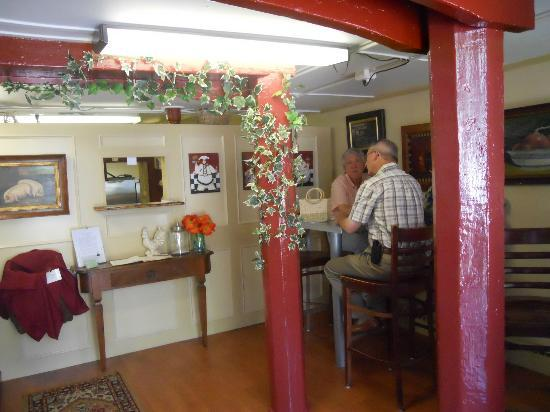 Rosemary and Thyme Cafe: pick up window and seating area