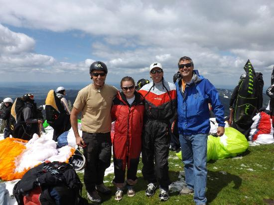 Paraworth Tandem Paragliding: Half of us with Craig and Charles