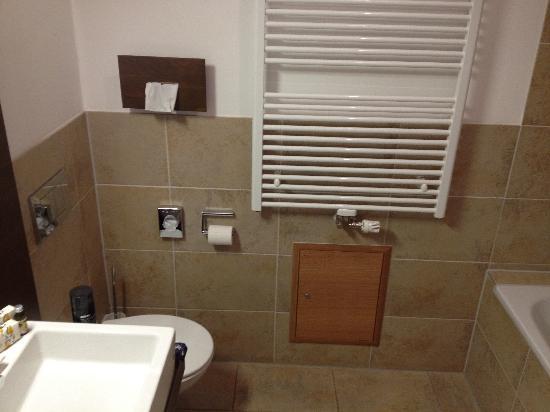 Hezelhof Hotel: Badezimmer