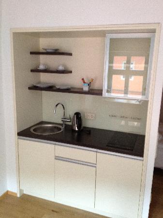 Hezelhof Hotel: Arbeitszimmer Küche