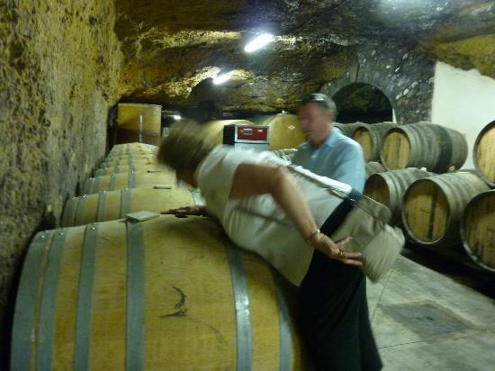 Chateau Gaudrelle, Vins de Vouvray: Blow into the barrel and sniff!