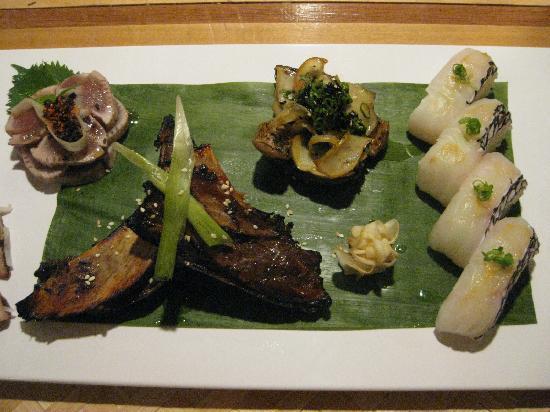 Sol: random sushi platter  -30bux