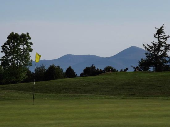 Downpatrick Golf Club: View of the Mourne Mountains from our first green