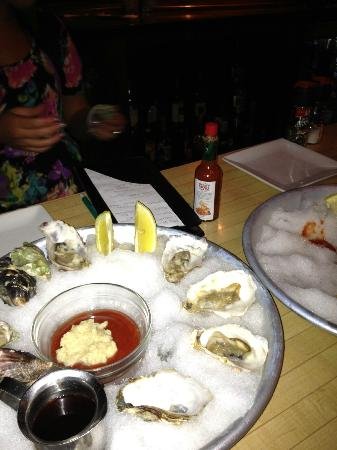Thirsty Perch Grill : Fresh Shucked Blue Point Oysters