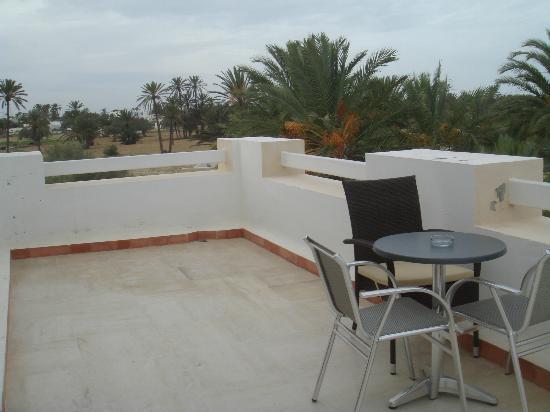 Fertile Mezraya-Djerba: la terrasse de la chambre