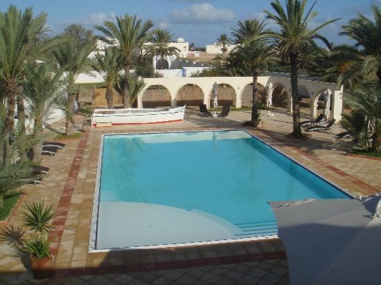 Fertile Mezraya-Djerba: la piscine vue de la chambre