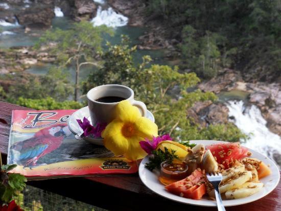 Gaia Riverlodge: View from restaurant terrace