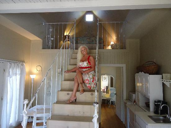 Star of Texas Bed & Breakfast: Me on our stairs!