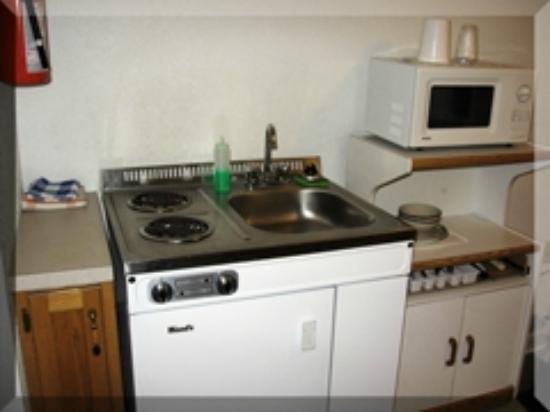 Lazy J Motel: kitchenette
