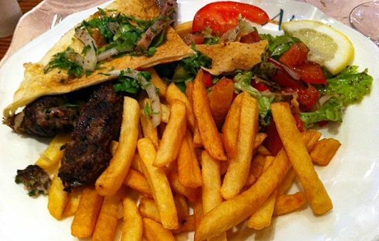 Nai  Paris: Lamb and chips