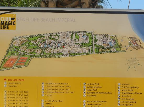 TUI Magic Life Penelope Beach: map of complex