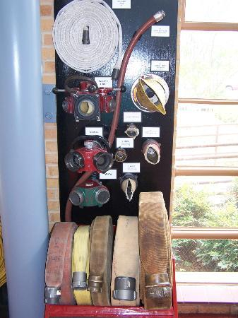Denton Firefighters Museum : Various nozzles and hoses