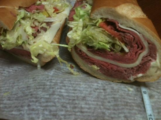 "Dileo's Italian Deli: Tuesdays and Thursdays $5.00 12"" Roast Beef n Provolone!! How can you beat that???"