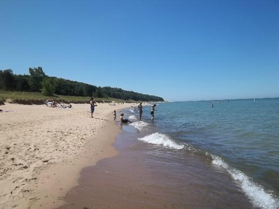 Twin Oaks Inn: Shallow, warm water at Saugatuck's bucolic beach