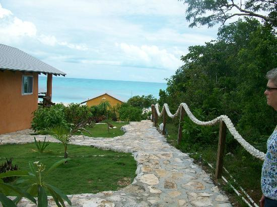Shannas Cove Resort : Walkway to the beach