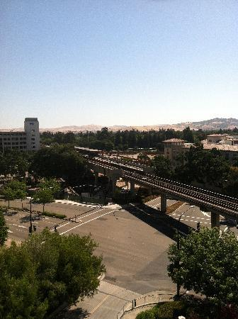 Embassy Suites by Hilton Walnut Creek: Pleasant Hill BART station, from our window.