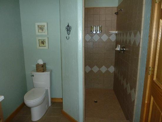 Arnold Black Bear Inn: large walk-in shower