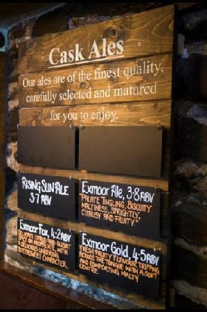 The Rising Sun Hotel: Exmoor Ales
