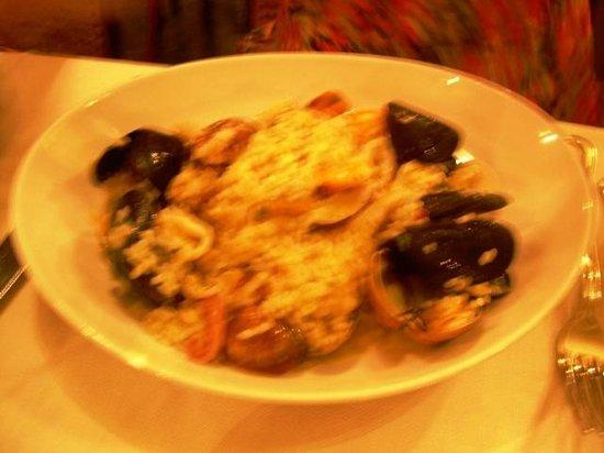 Ristorante La Fontana : Risotto with Seafood...sorry bad lighting.
