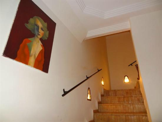 Riad Chafia: Stairs to Rooms